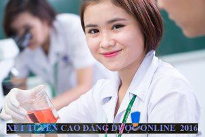 XET TUYEN CAO DANG DUOC ONLINE 2016