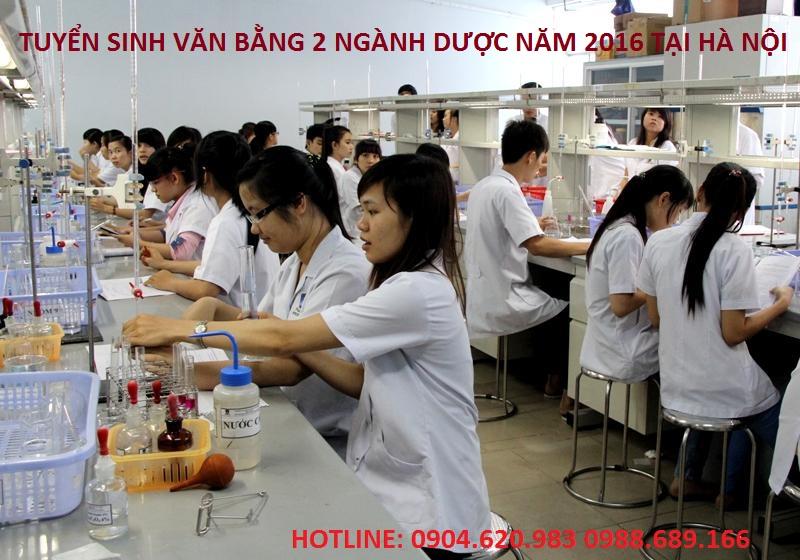 TUYEN SINH VAN BANG 2 NGANH DUOC 2016 TAI HA NOI