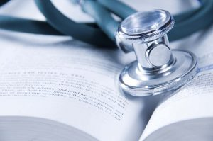 health care concept with a medical book