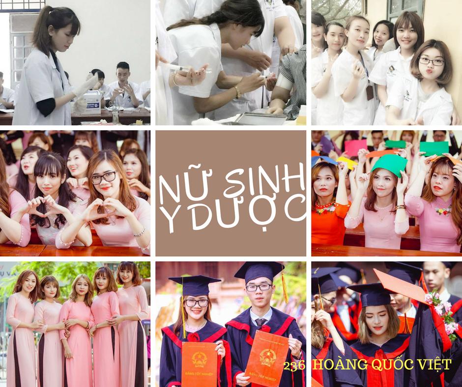 Học cao đẳng Dược Hà Nội với các bạn nữ sinh xinh đẹp