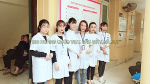 Sinh viên đi thực tập tại bệnh viện E Trung Ương