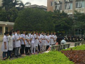 Sinh viên y dược đơn vị 236 Hoàng Quốc Việt đi thực hành ở bệnh viện E