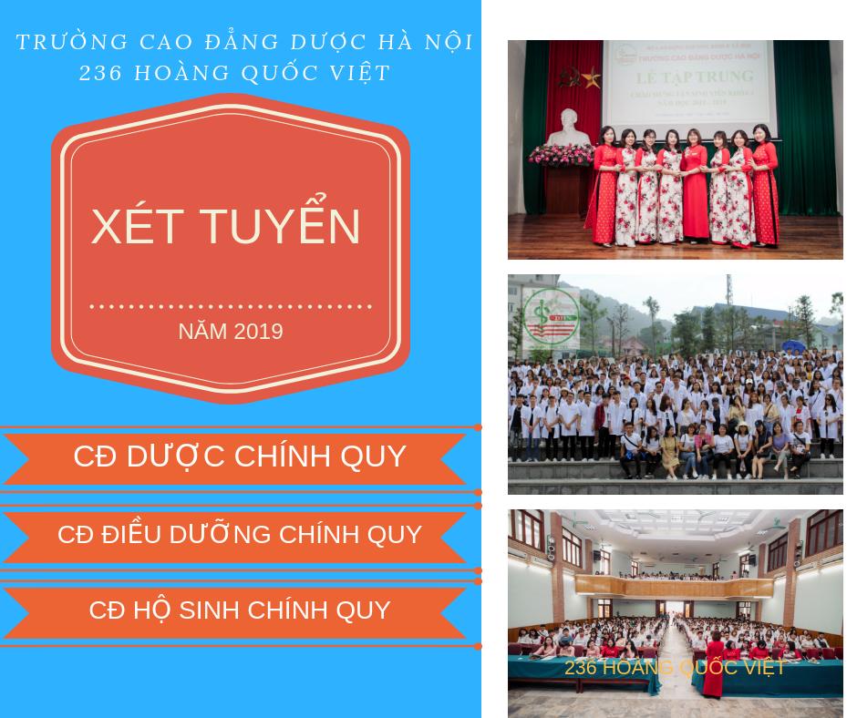 Xét tuyển cao đẳng y dược Hà Nội 2019